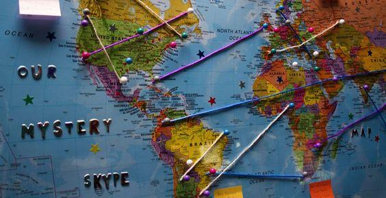 Mystery Skype - Es un juego educativo que se desarrolla entre dos grados en Skype . El objetivo del juego es adivinar la ubicación de la otra clase realizando preguntas.