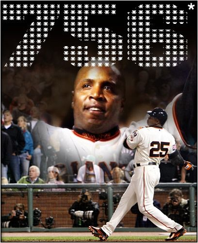 Barry Bonds breaking the MLB home run record.
