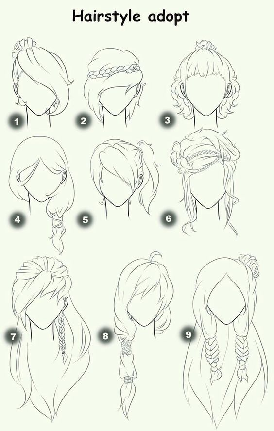 Hairstyle Adopt : Hairstyle Adopt, text, woman, girl, hairstyles; How to Draw Manga ...