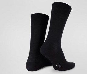 MEN'S SOCKS WITH MERINO WOOL, BLACK