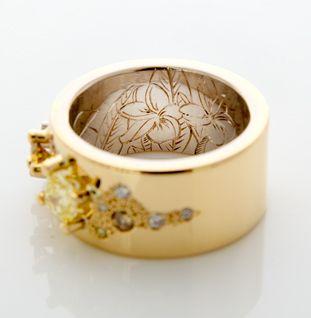 sunshine ring engraving   Camilla Gough