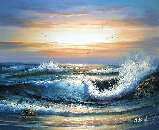 Ocean Paintings - Google Search | Lighting - Exterior - Nature ...