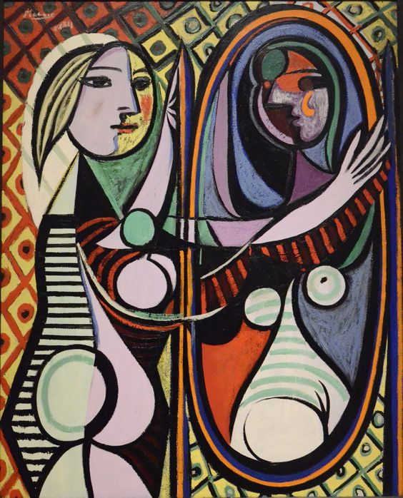 Girl Before A Mirror, 1932 by Pablo Picasso