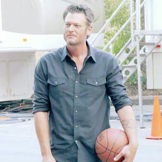 Blake playing basketball.