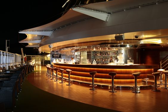 The Disaronno Contemporary Terrace at The Garden Bar on #MSCDivina: