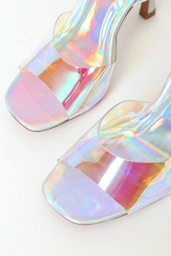 Catarena Hologram High Heel Sandals High Heel Sandals Sandals Heels Holographic Heels