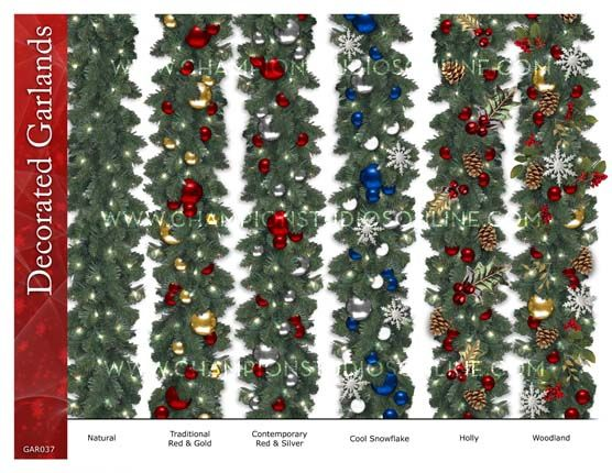 Commercial Holiday Displays, Commercial Christmas Decorations, Commercial Holiday Display, Commercial Christmas Displays - Champion Studios Online - Commercial Garlands