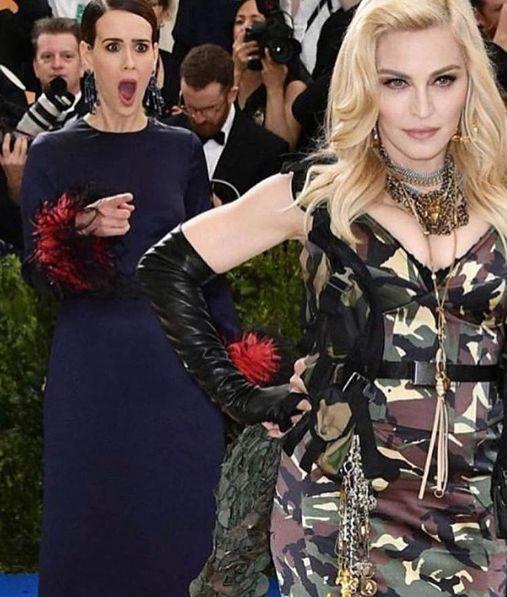 Sarah Paulson e Madonna (Foto: Reprodução/Instagram)