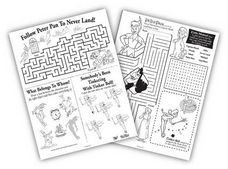 """Peter Pan"" Activity Sheets - Rewards - Disney Movie Rewards"
