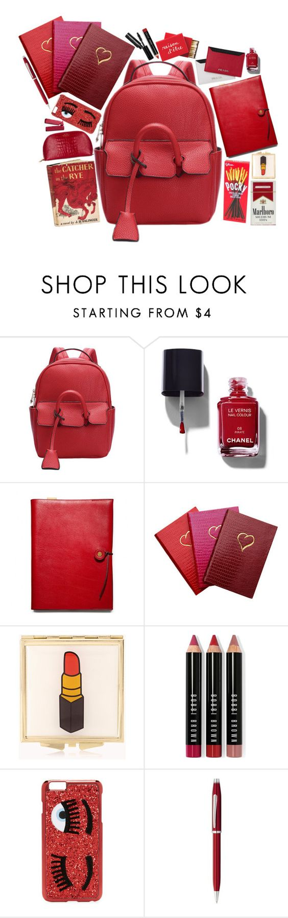 """""""Summer School"""" by styling-w-mabel ❤ liked on Polyvore featuring Chanel, Coach, Sloane Stationery, Forever 21, Edition, Bobbi Brown Cosmetics, Chiara Ferragni, Cross and Smythson"""