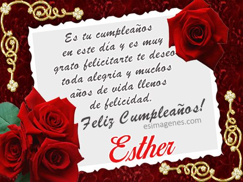 Feliz cumpleanos a esther