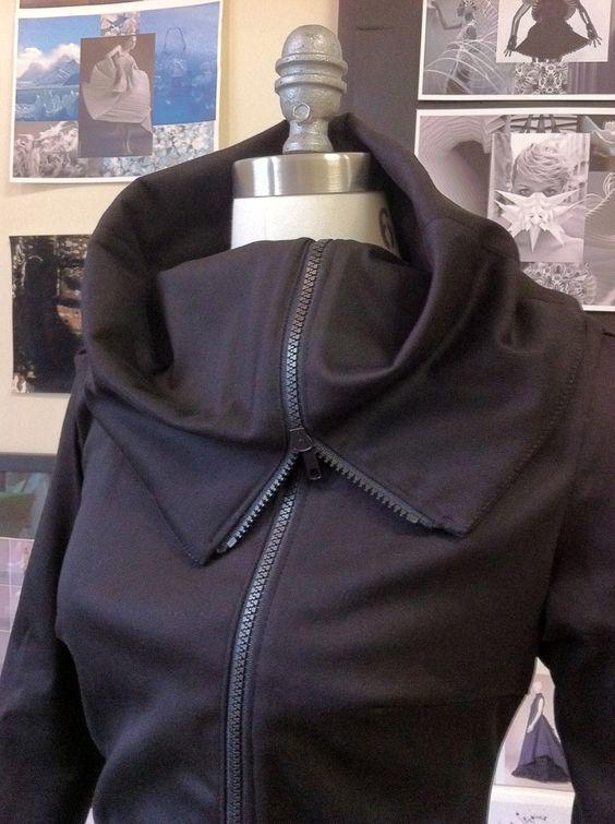 Amazing Asymmetrical Jacket in Black. $150.00, via Etsy.