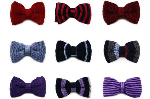 Steve & Co. Knitted Silk Bow-tie Collection. Inevitable!!