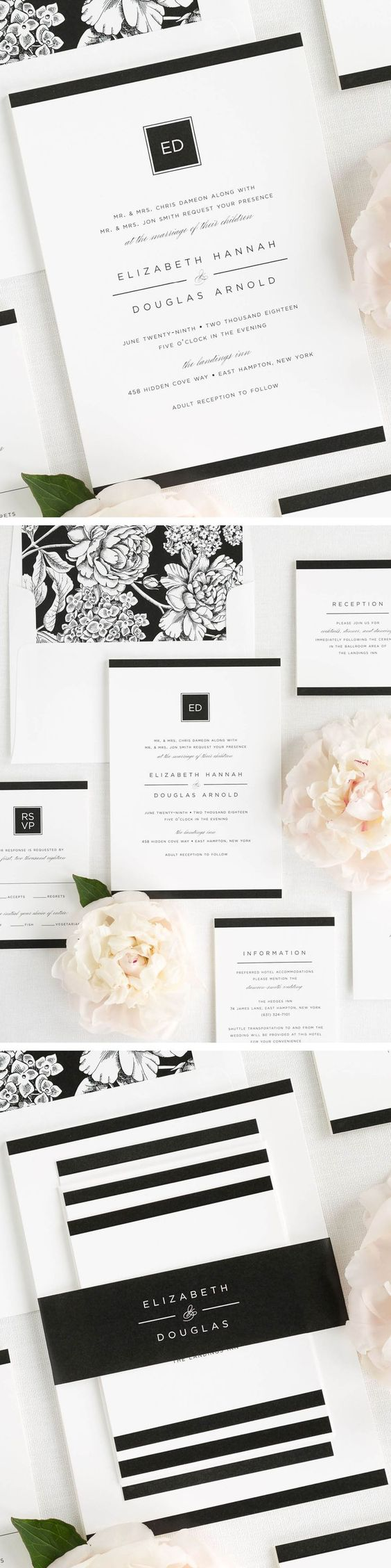Modern Glamour Wedding Invitations