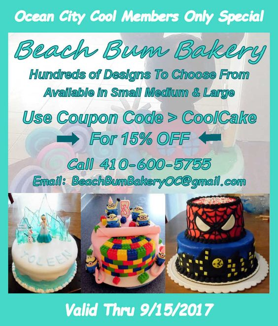 Beach Bum Bakery - Hundreds of Designs to Choose From... | Click Image to Learn More...  | #oceancitycool