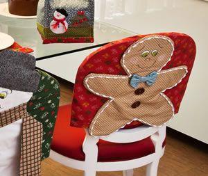 02 moldes de capa de cadeiras natalinos - Artesanato Brasil