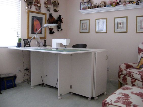 Koala cabinets in sewing room.. ideas