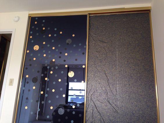 closet door makeover ideas - Mirrored closet door makeover Creativity