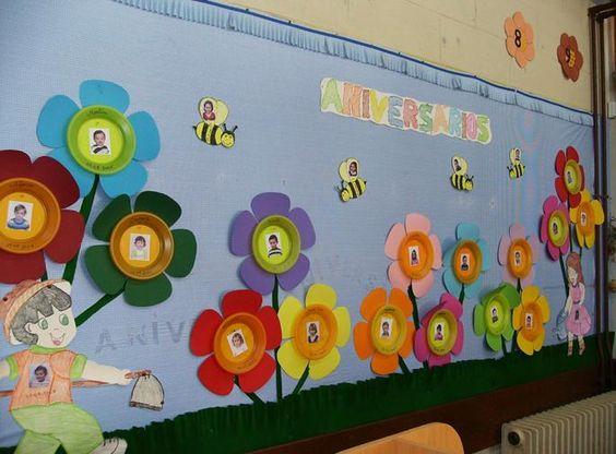 ideias para o outono jardim de infancia:Decoraciones Para Aulas De Primavera
