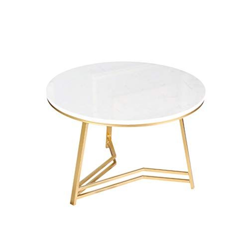 Modern Coffee Table Round Negotiating Table Wrought Iron Bracket Marble Tabletop Ideal For Home Coffee Table Modern Coffee Tables