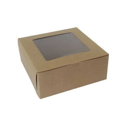 12x12x5 Natural Kraft Window Bakery Boxes Bakery Boxes Bakery Packaging Wine Gifts