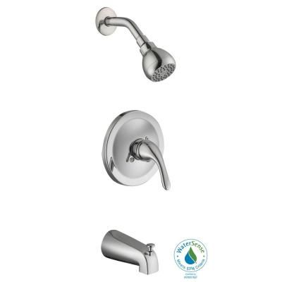 Handle Tub and Shower Faucet