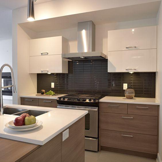 Cuisine style contemporain avec tiroirs de m lamine et for Armoire de cuisine thermoplastique prix