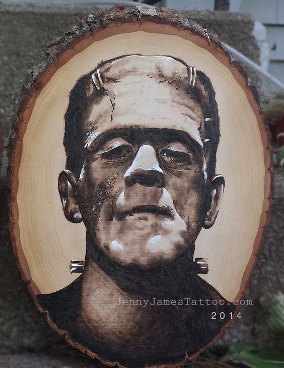 Frankenstein Wood burning  https://www.etsy.com/shop/TheBoneCellar
