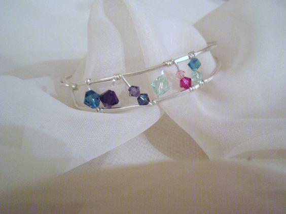 Sterling Silver/Swarovski Crystal Bracelet.  Fits to 7 3/4 inch wrist.  SOLD