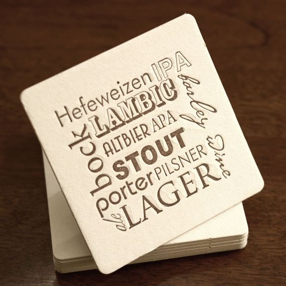 Check your style! Educational beer geek coasters. $10