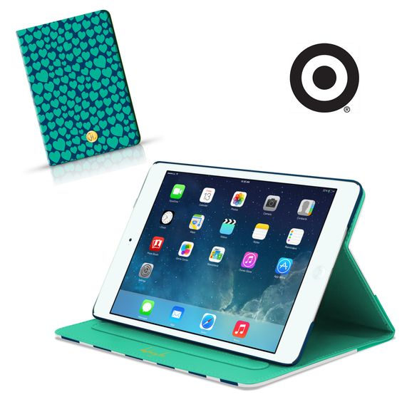 notebook style, magnetic closure, automatic sleep and wake function, direct access to device features, and two viewing angles. what more could you want in an ipad case? grab one for your mini or air at a Target Style store near you or online: http://www.dabneylee.com/dabney-lee-target/. ‪#‎dabneyleelovestarget‬ ‪#‎dabneyleetech‬