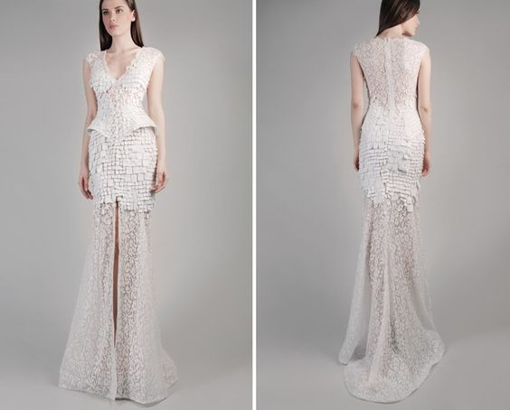 GEMY MAALOUF - Fall/Winter 14-15  white wedding.