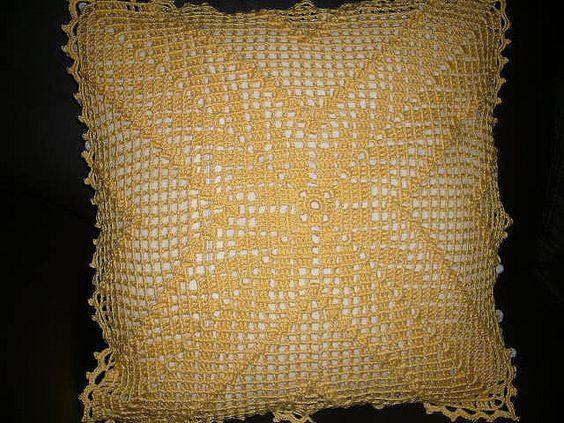 Almofada em crochê | Flickr - Photo Sharing!