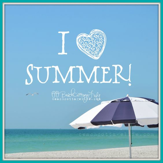 I <3 summer! Beach therapy.
