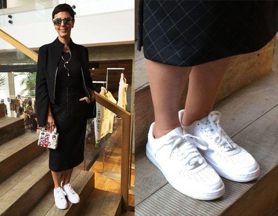 Pra encarar o SPFW de uma maneira mais confortável, Lilian apostou em um tênis Nike - vem ver como outros fashionistas usaram o calçado!