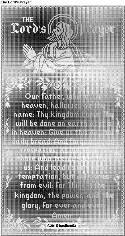 (4) Name: 'Crocheting : The Lord's Prayer Filet Crochet Pattern