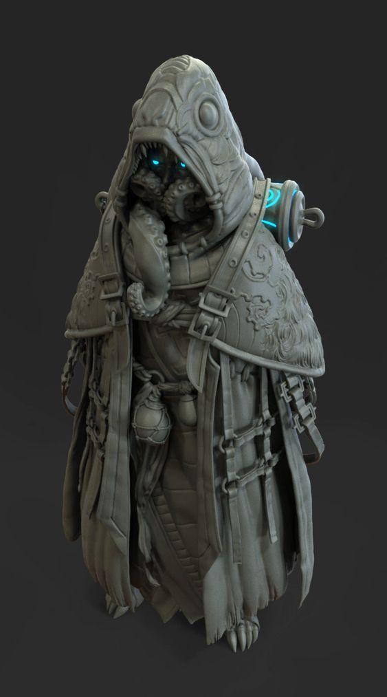 ArtStation - Substrata Character Sculpt (Render), Ronald Gebilaguin