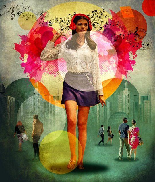 HORVATH Peter -Walk To Your Own Beats -  collage numérique 2015