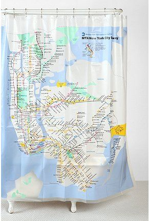 UrbanOutfitters.com > New York City Subway Shower Curtain | nyc ...