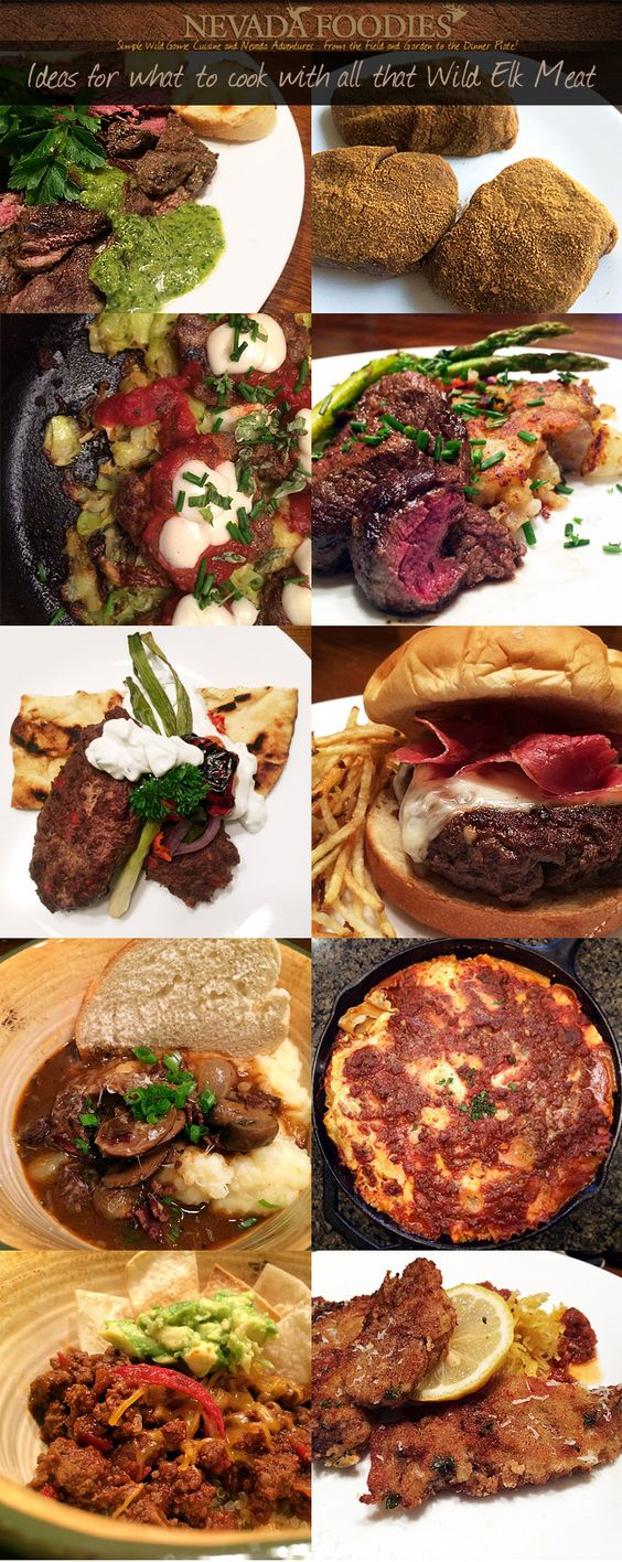 Elk Recipes... Ideas for what to cook for dinner with all that wild elk meat. #venison #elk #antelope recipes