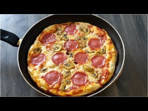 How To Make Pizza At Home Without Oven Homemade Pizza In The Pan Youtube How To Make Pizza Pizza Recipes Homemade Homemade Pizza