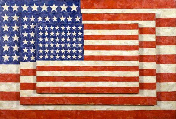 """Three Flags"" by Jasper Johns. #encaustic #paintings:"