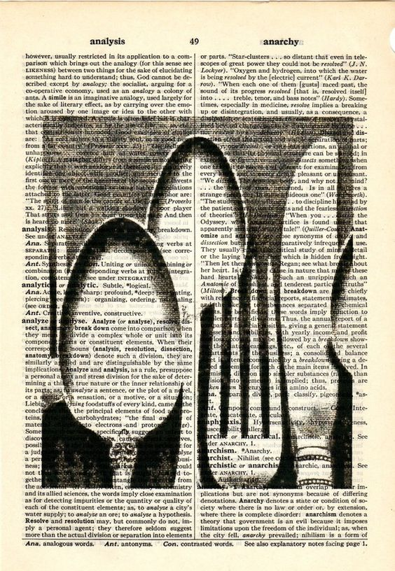 Silverware Vintage image dictionary book page collage art print ...
