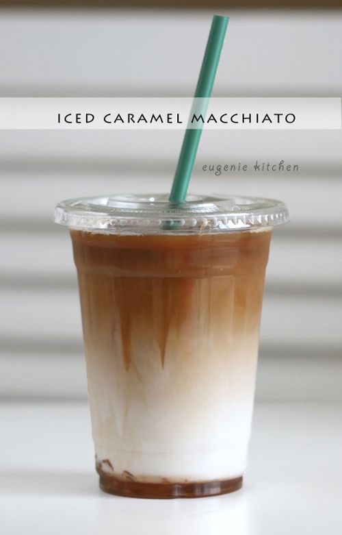 How to Make Starbucks Iced Caramel Macchiato [Copycat Recipe] - Eugenie Kitchen