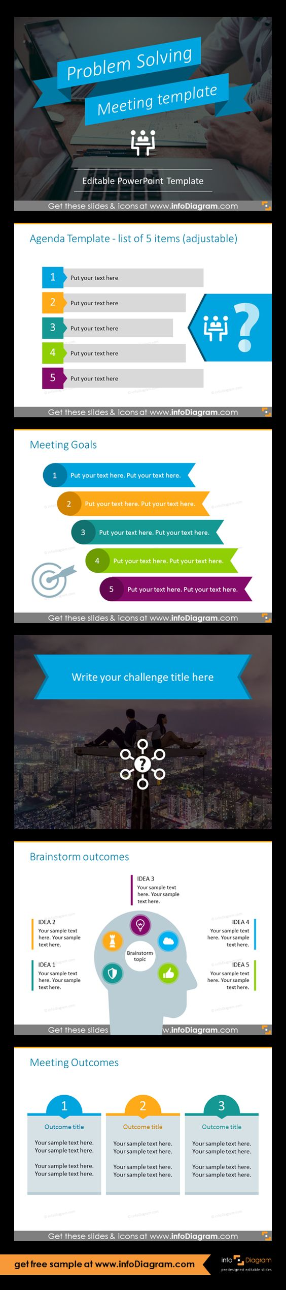 Powerpoint template for running effective meeting business powerpoint template for running effective meeting business meeting type problem solving by defining a challenge doing team brainstorming and eva toneelgroepblik Image collections