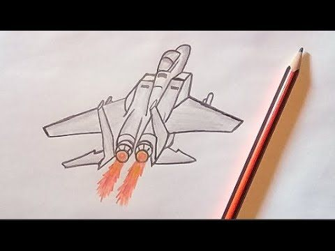 تعلم الرسم للمبتدئين رسم طائرة مقاتلة بالقلم الرصاص سهل جدا Youtube Drawings Pencil Drawings Draw