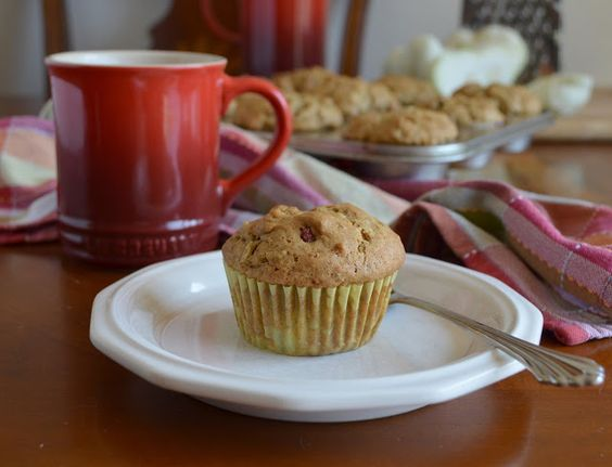 Zucchini and cranberry spice muffins