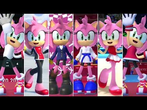 Mario Sonic At The Olympic Games Tokyo 2020 All Amy Outfits Youtube Amy Rose Sonic Olympic Games