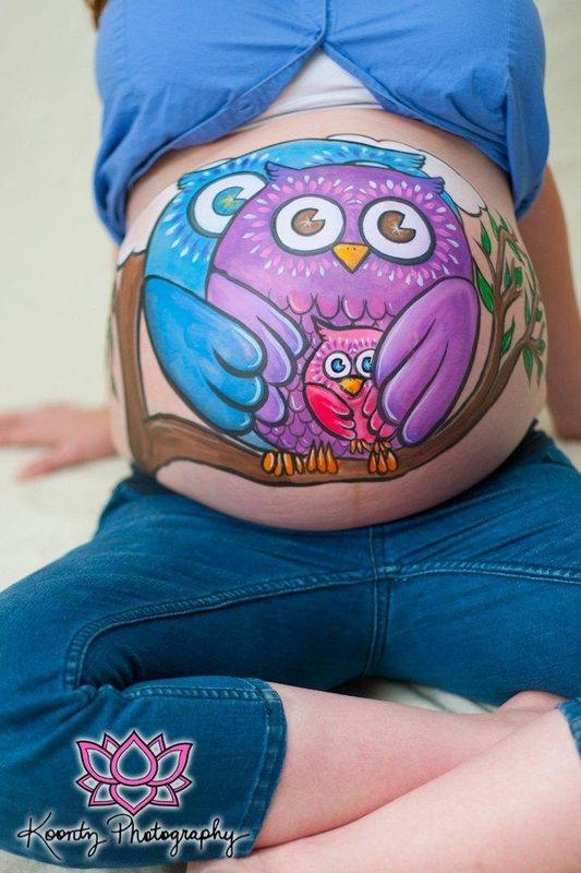 Pretty cool idea for the ones who are prego ...... And have the nerve to show off the prego belly!!!