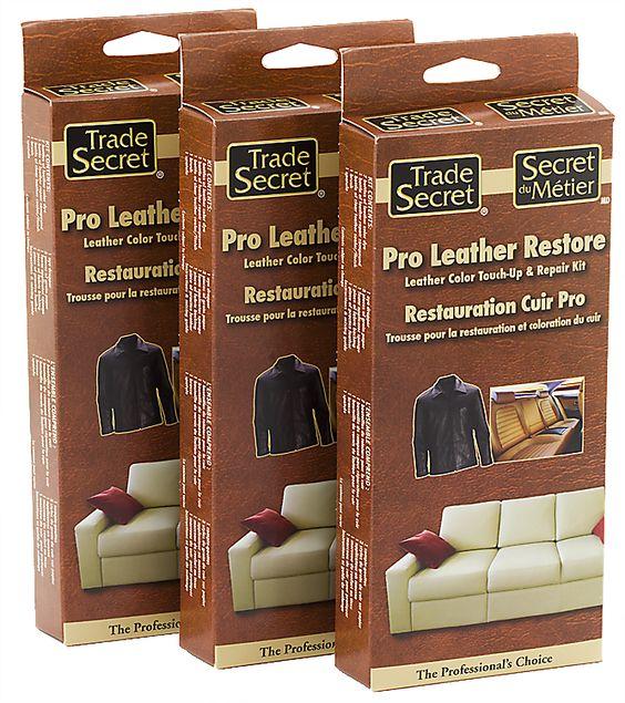 Leather Furniture Repair Kit Cat Scratches: Trade Secret: Pro Leather Restore